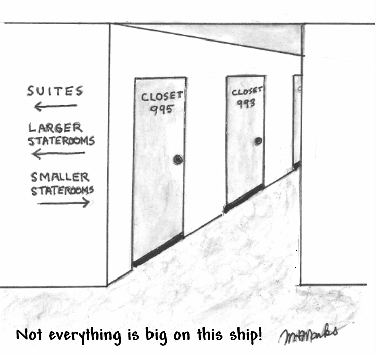 Staterooms can be a little small