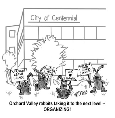 Bunny protest