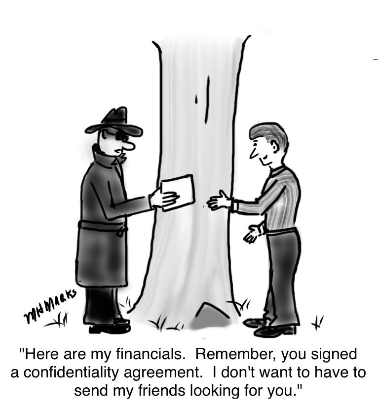 Very confidential financials
