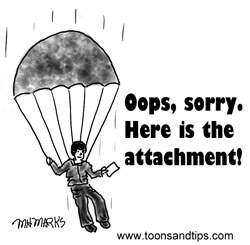 Email Insert – Here are attachments