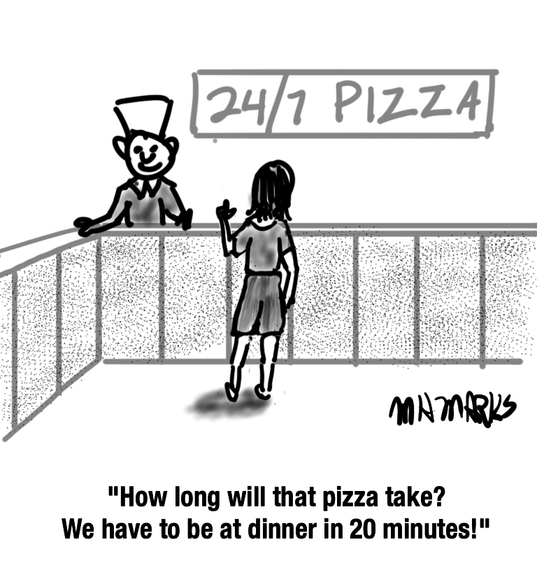 A pizza before dinner can't hurt!