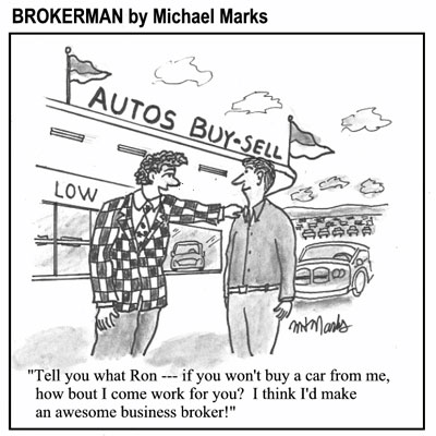 Car Salesmen make great business brokers