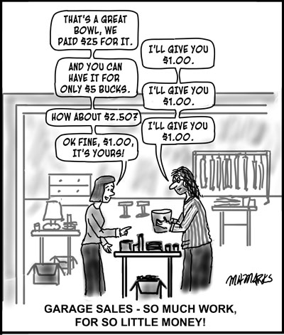 Feel like having a Garage Sale?