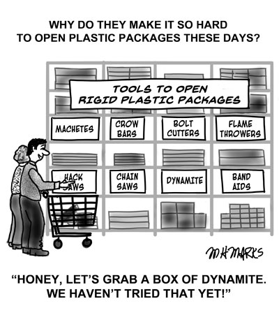 Plastic packaging is a tough assignment these days!