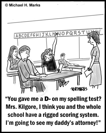 Rigged spelling test