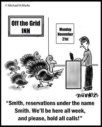 Thanksgiving – check into a motel
