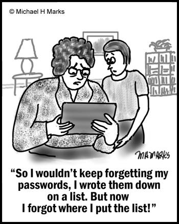 Lost passwords