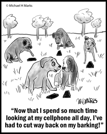 Dogs with cellphones