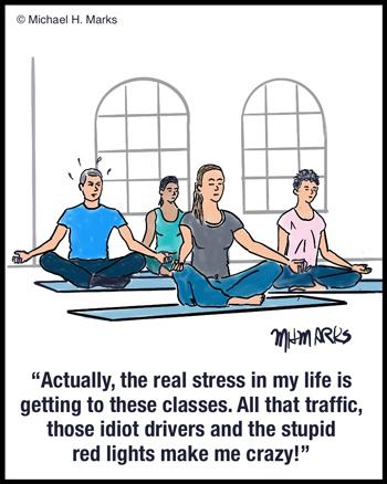Yoga class stress