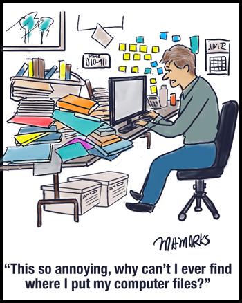 Lost computer files