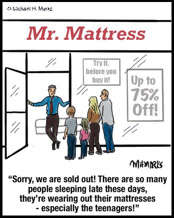 No more mattresses