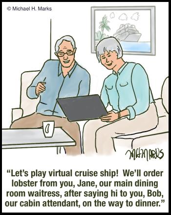 Virtual cruise ship